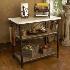 kitchen islands carts wrought iron furniture