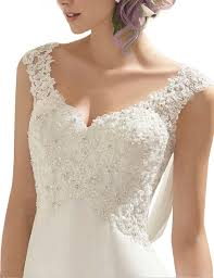 wedding dress size 16 abaowedding s v neck sleeveless lace wedding dress