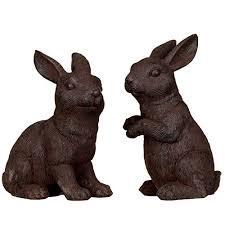 made from resin garden rabbit ornaments 2pk co uk garden