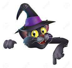 cute halloween images a happy cute halloween black witch u0027s cat wearing a witch u0027s hat