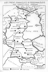 Freiburg Germany Map by Camps In Germany For Refugies From Baltic