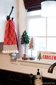 diy rustic felt trees house of four creating