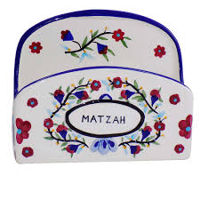 matzah holder passover matzah holders painted floral ceramic matzah holder