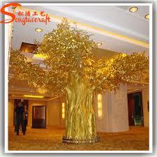 artificial mini small indoor golden ficus bonsai tree or large