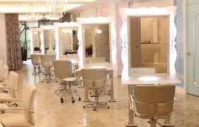 Home Hair Salon Decorating Ideas Beauty Salon Mirror With Lights Vanity Decoration