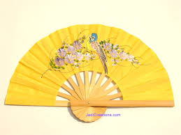 held paper fans wholesale held fans in artificial silk manufacturer thailand