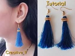 creative earrings how to make silk thread tassel earrings at home silk thread