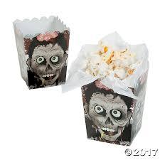 Halloween Gift Boxes Amazon Com Halloween Zombie Head Mini Popcorn Boxes 24 Count