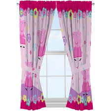 Pig Kitchen Curtains by Peppa Pig U0027peppa U0027s Flower Patch Girls Bedroom Curtain Panel Set