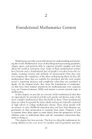 Construction Superintendent Resume Examples by 2 Foundational Mathematics Content Mathematics Learning In Early