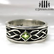 mens rings stones images Celtic knot silver soul ring 925 sterling silver jpg