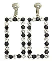 swag earrings lavish swag non pierced dangle earrings cliptomania