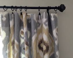 Grey Beige Curtains Curtains Etsy