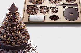 cadeau noel cuisine le sapin de noël en chocolat et en kit idée cadeau cool