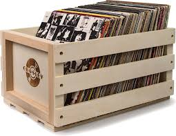 Record Player Storage Amazon Com Crosley Ac1004a Na Record Storage Crate Holds Up To 75