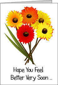 get better soon flowers printable get well soon cards