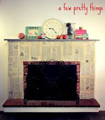 easy fireplace makeover with decoupage diy pinterest