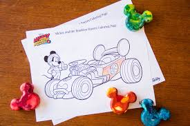 mickey roadster racers coloring disney family