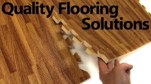 Interlocking Laminate Flooring Faux Wood Interlocking Trade Show Flooring Review Youtube