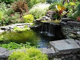 Waterfall Backyard Impressive On Backyard Pond Ideas With Waterfall Build A Backyard