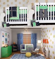 Baby Boy Chevron Crib Bedding 10 100 Cotton Fabric Baby Boy Chevron Crib Bedding Sets