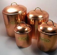 copper canister set kitchen copper kitchen canisters set vintage copper canister set of 4