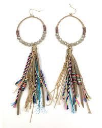 beaded crystal chandelier aliexpress com buy long fringe dangle earring beaded leather