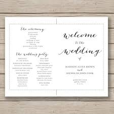 fall wedding programs wedding program fan template printable by hopestreetprintables