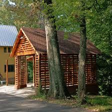 breezeway carport garage contemporary with wood slat traditional