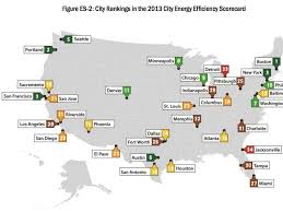 map of america with cities most energy efficient cities map business insider