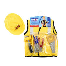 Construction Worker Costume Child Construction Worker Builder Costume With Accessories