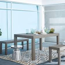 Teal Dining Table Portside Dining Table 58 Weathered Gray West Elm