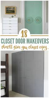 Closets Without Doors by 18 Closet Door Makeovers That U0027ll Give You Closet Envy Closet