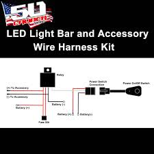 universal light bar 12v wire harness kit with 40 amp relay 30 amp