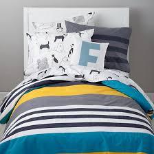 the land of nod kids bedding dog patterned bedding set in boy