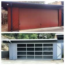 Olympia Overhead Doors by Before And After Garage Door On This Mid Century Modern Home
