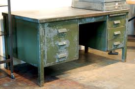 Vintage Metal Office Desk Vintage Metal Furniture For The Contemporary Worker Steel