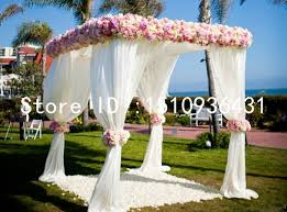 Canopy Drapes Wedding Outdoor Decoration Reception Canopy Drapes With