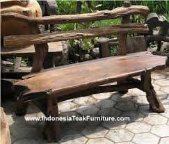 rustic outdoor benches treenovation