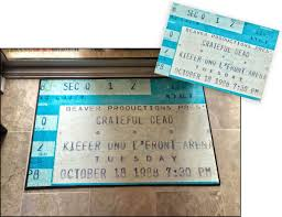 ticket stub album now you can turn those concert ticket stubs into floor mats