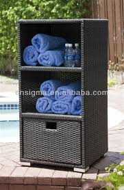 Towel Storage Cabinet Pool Towel Storage Unit Outdoor B Font Towel Rattan Storage