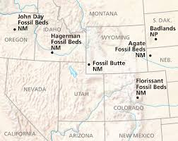 fossil butte maps npmaps just free maps period