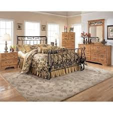 Metal Sleigh Bed Bittersweet Metal Sleigh Bedroom Set Signature Design Furniture Cart