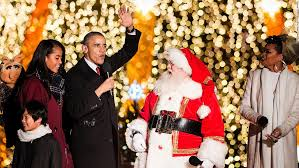 Obama First Family by The First Family Lights The National Christmas Tree