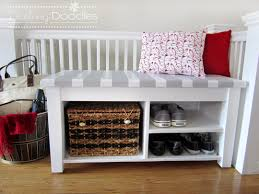 Red Entryway Bench by Our Diy Entryway Bench Darling Doodles