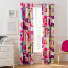 Girls Bedroom Window Treatments Mainstays Pink Horsey Girls Bedroom Curtain Panel Ebay