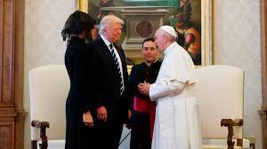 trump pope francis pope and president talk peace during vatican visit krem com