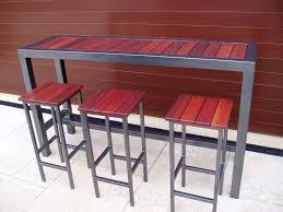 High Bar Table Patio Dining Sets Bar Furniture Outdoor Bar Metal High Bar Table
