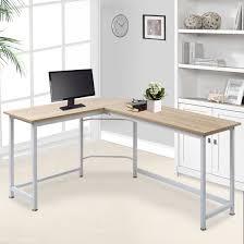 Corner Laptop Desk Modern Luxe L Shape Home Office Corner Computer Desk Pc Laptop