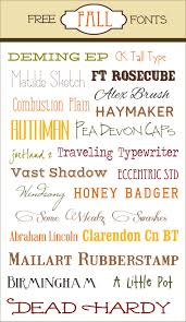 free fall fonts with links to the individual download sites and